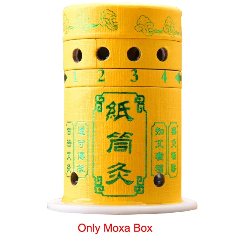 SHARE HO-caja de moxibustión reutilizable, pegatinas de papel, palitos Moxa, quemador, calefacción, terapia de puntos de Acupuntura, tubo para Moxa, China