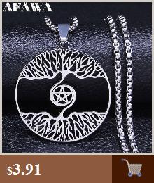Collares de acero inoxidable con pentagrama de Witchcra para hombre