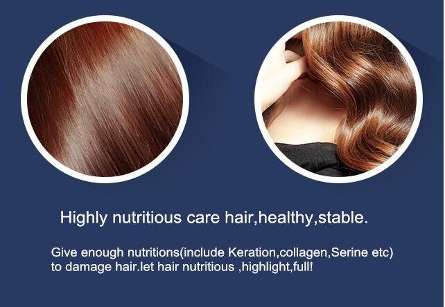 SowSmile colágeno queratina de seda natural para el cuero cabelludo