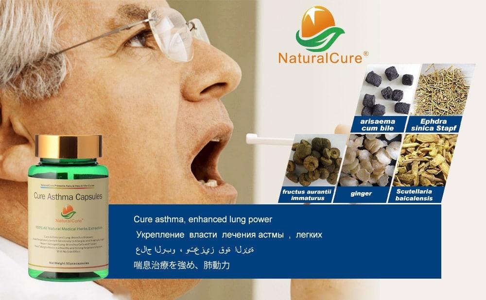 Cápsulas para curar Asma, medicina para enfermedades de los pulmones, extracto de plantas