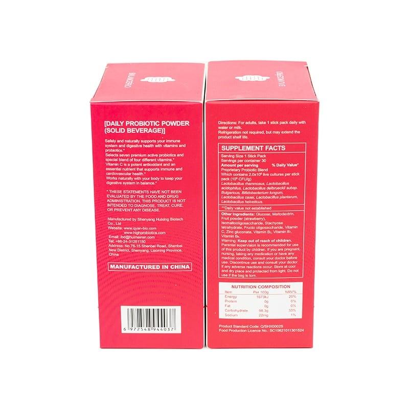 Probiotics-bebida en polvo con vitamina frutal para mantener la salud corporal y belleza, 7 cepas, venta directa de fábrica, 2 piezas