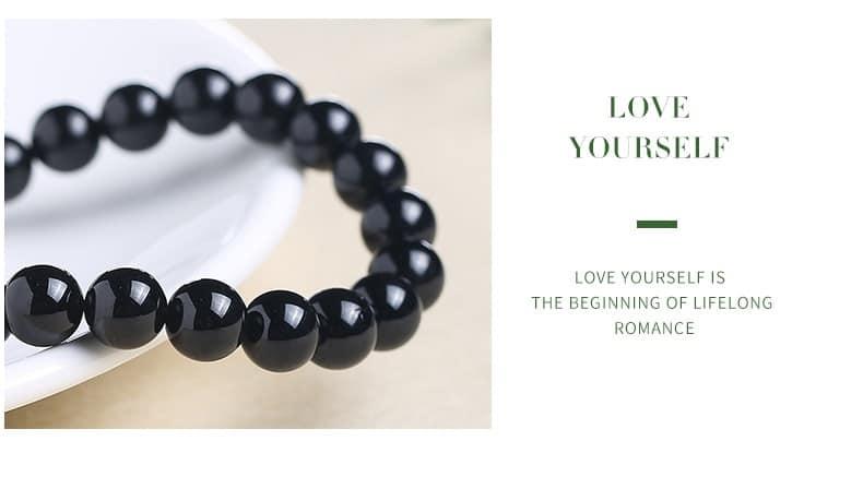 Pulsera de turmalina negra JD 7A, cristales curativos, chakras de raíz, Yoga, meditación, protección, estabilidad emotiva, puesta a tierra