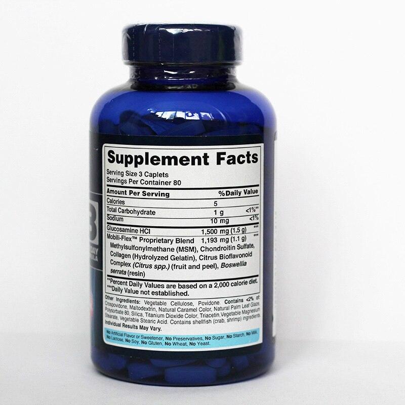 Glucosamina, condroitina y Msm, 240 Uds.