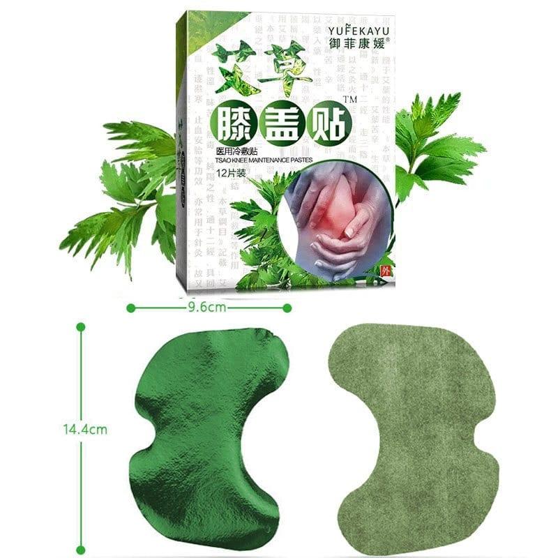 Parches de extracto de ajenjo para aliviar el dolor de rodilla, artritis reumatoide 12 unids/bolsa