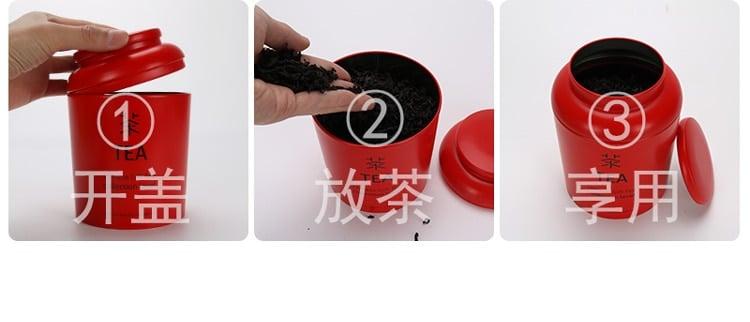 Caja de almacenamiento de té, decoración, exhibición del hogar, exhibición, lata, jarra de té, café, almacenamiento de azúcar, frascos